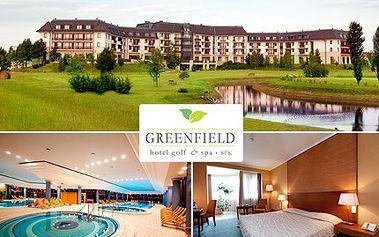 V nejluxusnějším maďarském hotelu, užijte si wellness, jídlo i odpaly na greenu! 63% sleva na pobyt, wellness procedury, vynikající jídlo a mnoho aktivit v GREENFIELD hotel golf & SPA .