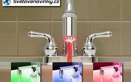 Nevšední zážitek z mytí rukou! Svítící kohoutek, který mění barvu podle teploty vody. Se slevou 60 % ho budete mít doma jen za 199 korun! Potěšení pro děti i vaše návštěvy.
