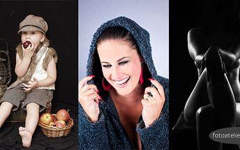 Portrétní, dětské a glamour fotografie - 500 Kč za balíček fotografických služeb v hodnotě 1200 Kč! Využijte nabídky na focení v interiéru nebo exteriéru a pořiďte si památku či dárek pro někoho blízkého v podobě portrétu, glamour fotografie či aktu.