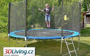 Haló děti, hop na trampolínu! Dopřejte svým dětem skákací trampolínu CrazyJump 305cm s ochrannou sítí a žebříkem s 61% slevou jen za 3499 korun!