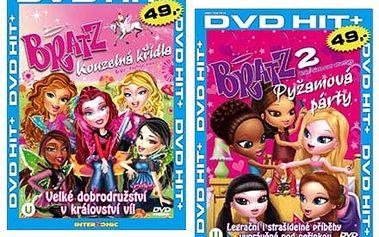 6 DVD slavné pohádkové série Bratz. Elfové, víly i kouzelný žabák udělají radost všem malým princeznám.