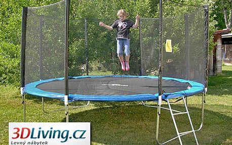 Haló děti, hop na trampolínu! Dopřejte svým dětem skákací trampolínu CrazyJump 400cm s ochrannou sítí a žebříkem s 59% slevou jen za 4499 korun!