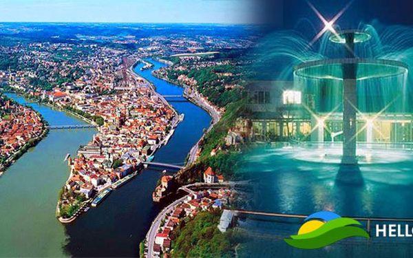 Město tří řek Passau a lázně Bad Füssing – největší lázně Evropy se třemi termálními prameny již 8. října 2011 s odjezdem z Prahy.