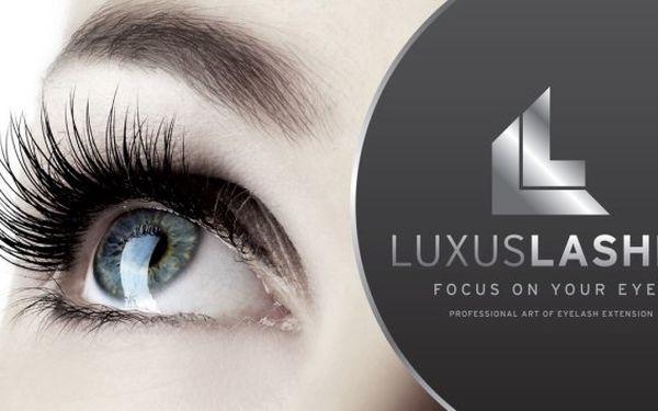 1500 Kč za prodloužení řas metodou Luxus Lashes Dramatic v hodnotě 4000 Kč
