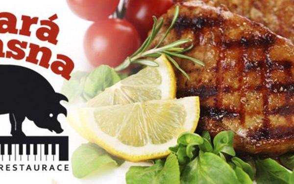 149 Kč za DVA steaky Mojito na mátě, třtinovém cukru, limetce a jamajském rumu. Masíčko na kubánský způsob se slevou 50 %