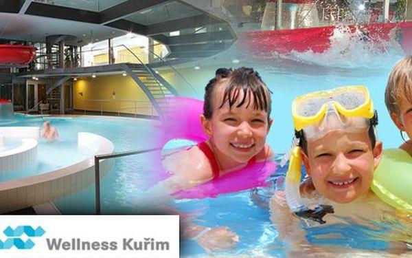 199 Kč za rodinnou vstupenku do moderního aquaparku Wellness Kuřim. Tři hodiny plné dobrodružství a vodních radovánek s 59% slevou.