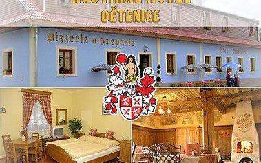 Dejte si pivo a zábavu nechte na tanečnicích, při výpravě do středověku v historických Dětenicích. 57% sleva na ubytování s historickým programem a neomezenou konzumací piva ve středověkém hotelu RUSTIKAL v Dětenicích.