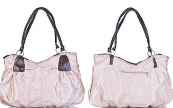 Fantastická kabelka za vynikajúcu cenu len 13,90 € s poštovným. Moderná kabelka vyrobená z ekologickej kože, na výber z 3 farieb - bledá béžová, modrá a čierna.
