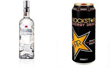 Zajděte si s přáteli na 5 panáků Finlandia vodky s 0.5l energetickým nápojem značky Rock*Star a to za úžasnou cenu 139 Kč! Vše získáte ve stylové restauraci Zakotvi!