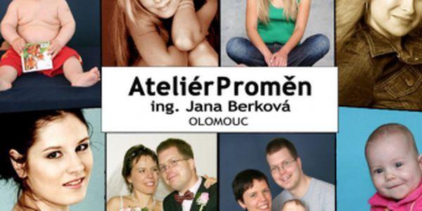 Již od 499 Kč Vám přinášíme mimořádnou nabídku fotografky Jany Berkové z Ateliéru Proměn Olomouc. Zaujme především náročné zákazníky, kteří chtějí mít profi fotografie ve svém albu, profilu nebo je věnovat svým blízkým formou fotografií nebo kalendáře.