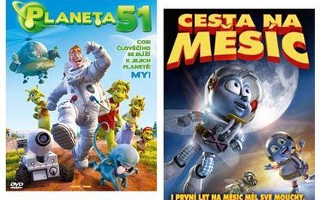 Cesta na Měsíc a Planeta 51 - dva rodinné megafilmy na DVD.