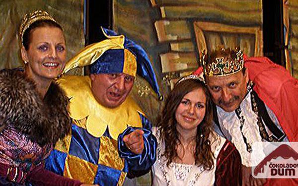 ČOKOLÁDOVÉ MUZEUM uvádí představení Čokoládová princezna a zpívaný pořad Z pohádky do pohádky se soutěží a hrami pro děti za čokoládové ceny. Každé představení divadla Jiřího Krytináře za 90 Kč!