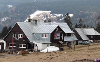 Nabízíme vám slevu 50% na ubytování na 2 noci s polopenzí v Krakonošově království na Horské boudě Míla v Peci pod Sněžkou.