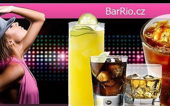 99 Kč za ČTYŘI míchané drinky v Baru Rio. Cuba Libre, Captain Morgan + Coca Cola, Amundsen + juice, Fernet Z-Generation + Coca Cola a sleva 67 %.