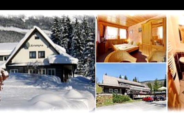 1999 Kč za pobyt pro 2 osoby s polopenzí na 3 dny a 2 noci v hotelu Kristýna ve Špindlerově Mlýně. Užijte si romantiku v srdci Krkonoš nyní se slevou 35%.