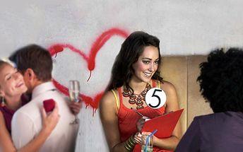 """Seznamte se s novou láskou hned a naživo! """"Speed-dating"""" je moderní a celosvětově nejoblíbenější forma seznamování. Jde o způsob seznamování, který opravdu funguje a Vy to můžete nyní vyzkoušet na vlastní kůži za 113 Kč!"""