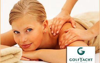 Relaxace se 64% slevou! Užijte si skvělou masáž zad a šíje jen za 180 Kč! V luxusním prostředí Wellness Golf Yacht Praha si budete připadat jako v pohádce!