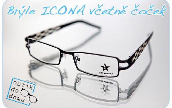 Kompletní brýle značky ICONA s tvrzenými čočkami a antireflexní vrstvou. Vyberte si obroučky i čočky dle svého.