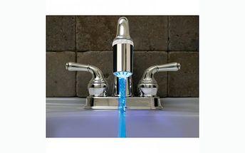 Svítící kohoutek na vodovodní baterii se slevou za 149 Kč!!! Mění barvu vody podle teploty, takže se nespálíte!
