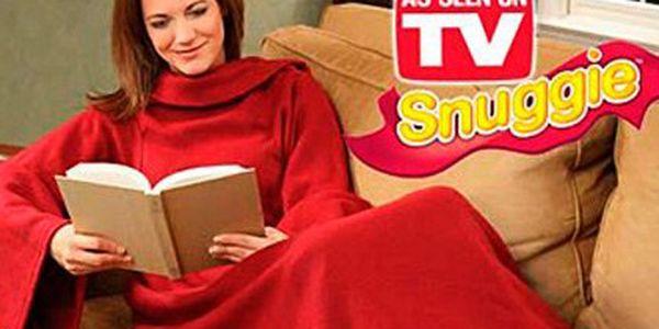 TV deka Snuggie s rukávy za 149 Kč – fleecová deka s rukávy, která vás zahřeje od hlavy až k patě