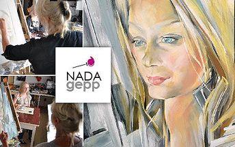 5999 Kč za originální portrét od renomované malířky Nady Gepp! Vlastní portrét dle libovolného uměleckého slohu, oblíbeného výtvarného díla či zvolenou malířskou technikou se slevou 77 %.