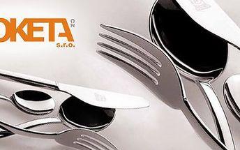 1489 Kč za 24dílný set luxusních italských příborů Mepra pro šest osob. Nože, vidličky, lžíce a kávové lžičky podle špičkových italských designérů se slevou 70 %.