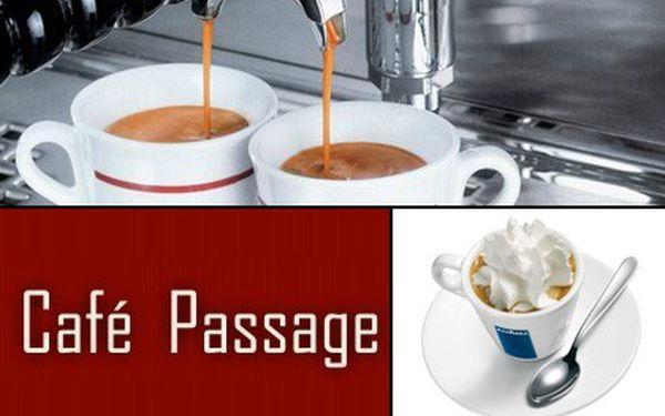 50% SLEVA! Jen 39 Kč místo 78 Kč za dvě lahodná double espressa nebo dvě vídeňské kávy! Prožijte příjemné posezení v Café Passage!!