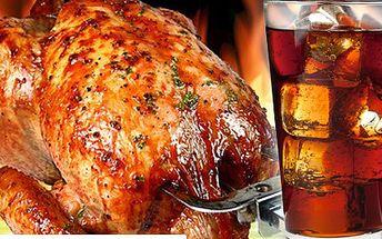 V centru Plzně pro vás máme jen na krátko velkou slevu na celé grilované kuřátko. 50% sleva na grilované kuře s COCA COLOU, kterou můžete uplatnit NON STOP v All you can drink Plzeň.