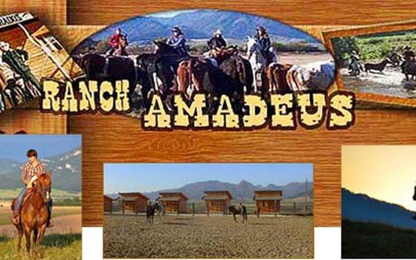"""Slovenský penzion roku - Ranch Amadeus Vás zve na fantastický pobyt pro dva """"ala western"""" v překrásné přírodě! Nezapomenutelný třídenní pobyt, včetně dvou projížděk na koních, se skvělou slevou 50%! Dopřejte si """"tak trochu jiný výlet""""!"""