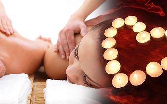 Partnerská masáž pro ty, co milují romantiku, překvapení a svého partnera. Romantika při svíčkách ve večerních hodinách, relaxační hudbě v příjemném prostředí.