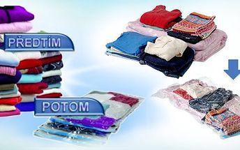 5 ks vakuových MAXI pytlů Vacu Bags k uschování sezónního šatstva za 249 Kč místo 999 Kč! Už se nemusíte trápit s nedostatkem místa a nepořádku!