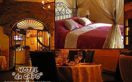 Užijte si 48% slevu na romantickou noc pro dva v hotelu Da Capo! Po lehké italské večeři se těšte na lahev sektu přímo na pokoji a ráno na snídani formou švédského stolu!
