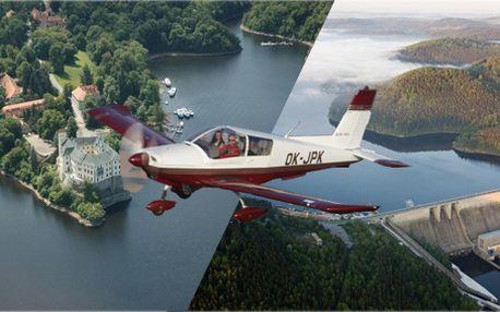 Vyhlídkový let nad zámkem Orlík, přehradou a v okolí! Zažijte jedinečnou podívanou na krásy naší země!