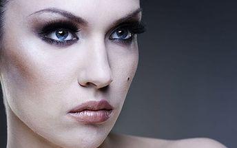 Vizážistický balíček - hydratační liftingová maska, masáž obličeje, společenský make-up a minikurz líčení.