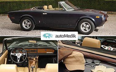 Udělejte si celodenní výlet a vraťte se do 70. let. S legendárním kabrioletem vám bude patřit celý svět! 55% sleva na celodenní vypůjčení legendárního kabrioletu Pininfarina SpiderEuropa 2000.