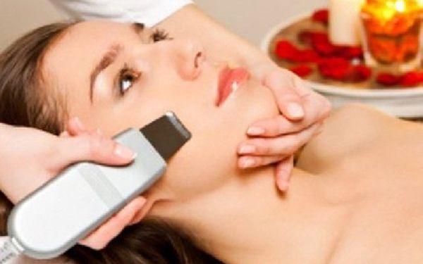 Ultrazvukové čištění pleti vč. kosmetického ošetření, omlazení obličeje a redukce pigmentových skvrn za 370Kč