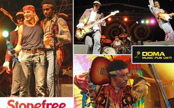 Obdivujete Jimiho Hendrixe? Zažijte pravou kytarovou show s kapelou Stonefree Czech experience. Koncert skupiny Stonefree Czech Experience v Disco Doma se slevou 50 %.