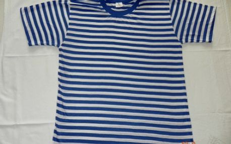 Potěšení pro vodáky, sada 3 kusů pruhovaných vodáckých triček jen za 288 Kč! Slevová akce na sadu obsahující dětské, pánské a dámské tričko, nebo výběr z 3 různých velikostí. Připravte se řádně na vodu! Modrobílé pruhované triko, 65% bavlna, 35% polyester.