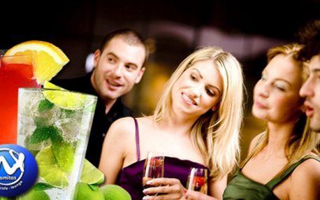 Pozvěte své přátele a osvěžte si pracovní týden MAXI DRINKEM! Výběr z MAXI Mojita, MAXI Sex on the beach a MAXI Tequila sunrise! 8 drinků s maxi brčkama za super 249 Kč!