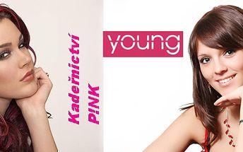 170,- Kč za kompletní péči o Vaše vlasy: mytí, regenerace, střih, barva, foukaná a styling. Nechte své vlasy hýčkat profesionální vlasovou kosmetikou Young Professional v kadeřnictví P!NK. Delší vlasy za více poukazů.