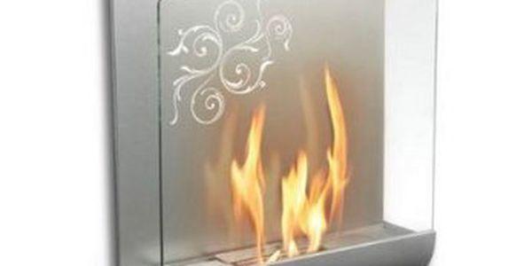 Ekologický bio krb Maxx Elegance s 41% slevou dodá Vašemu domovu tu správnou atmosféru!!! Bezkomínový závěsný krb – doplňkový zdroj tepla v stříbrné barvě za 1849 Kč