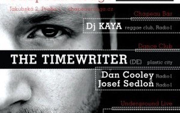 RADIO 1 EMBASSY: The Timewriter (de) +další. 50 Kč místo 100 Kč za vstup.