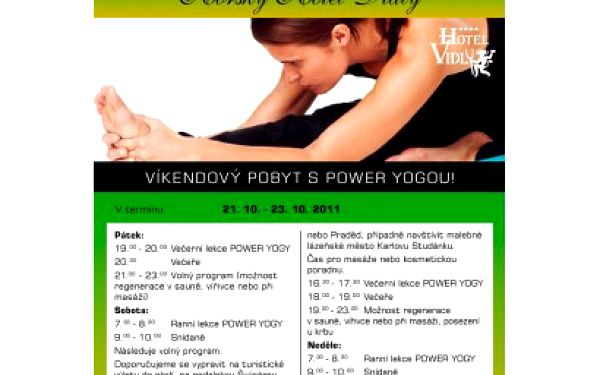 Neskutečný víkend s POWER YOGOU, vířivkou, saunou, polopenzí a hlidání dětí v Horském Hotelu Vidly****pouze za 1390kč od 21.10