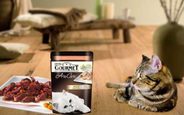 Dopřejte své kočce opravdové labužnické potěšení! Lahodné kapsičky Purina pro kočky jen za 14 Kč! Kočky přímo zbožňují kapsičky Purina Gourmet A la Carte!