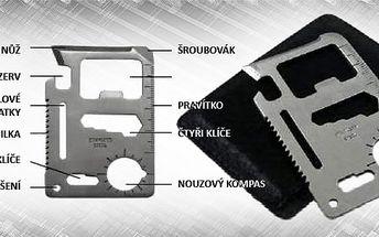 Můžete elegantně vyřešit zapeklité situace zaručeně získat obdiv kolektivu - vytáhnout vlastní nůž přímo z peněženky či dokladů!! Nožík v podobě kreditní karty!! Jak originální!