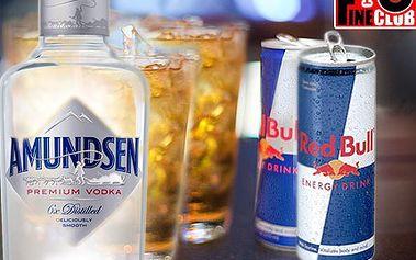 """Za poloviční cenu dvojité """"Křídla""""! To je nabídka, která se neodmítá. 4 x vodka dle vlastního výběru a 2 x Redbull v plechu ve Fine club café."""