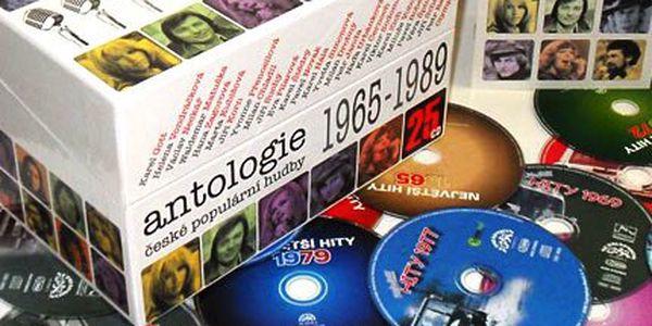 Největší české hity na 25 CD v dárkovém balení. Antologie české populární hudby 1965–1989 - Karel Gott, Marta Kubišová, Václav Neckář, Jiří Korn...
