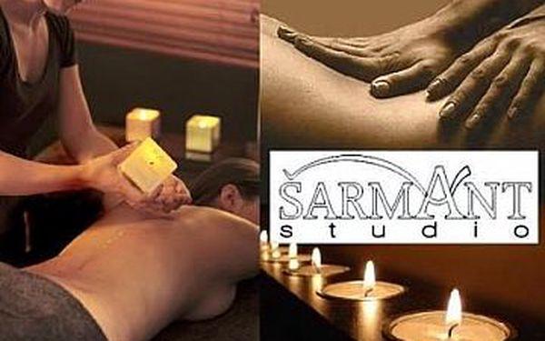 Stimulační masáž svíčkou ve studiu šarmant - milena malá se slevou 50%.