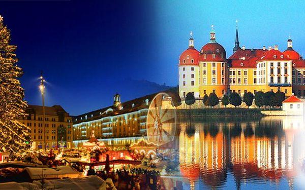 """Jednodenní předvánoční Drážďany a návštěva zámku Moritzburg s výstavou """"Tři oříšky pro Popelku"""" 17.12.2011. Navštivte místo, kde se natáčela Popelka, a pak si užijte velkolepé vánoční trhy!"""
