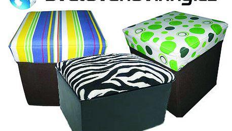 Vychytaná stolička 2 v 1 o rozměrech 30 x 31 x 59 cm. Posaďte se a ještě uložte drobnosti, které doposud neměli své místo! Designová stolička s 60% slevou jen za 199 Kč!